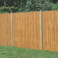 Forest Feather Edge Fence Panels 1.82 x 1.8m 3 Pack