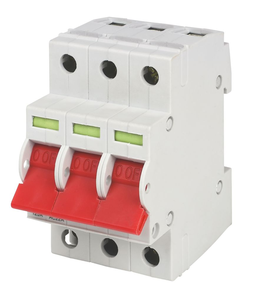 Crabtree 125A Triple Pole 230/400V Isolating Switch