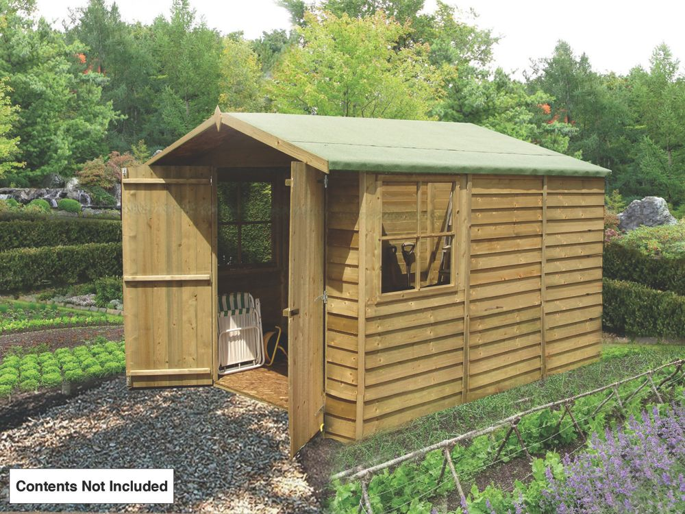 Shire Overlap Apex Shed 10 x 7 x 7' (Nominal)