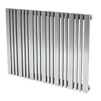 Reina Versa Horizontal Designer Radiator Stainless Steel 600 x 665mm