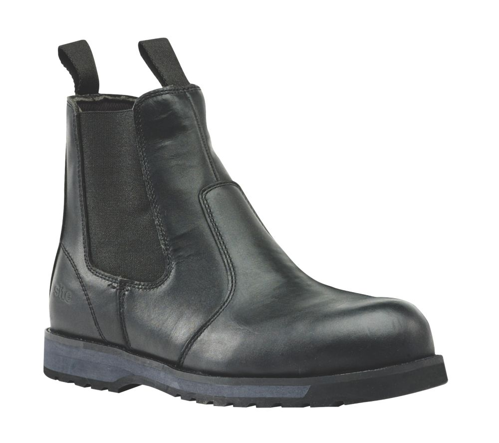Site Topaz Chelsea Safety Boots Black Size 7