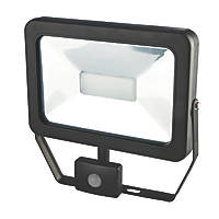 LAP Slimline LED Floodlight with PIR Black 50W