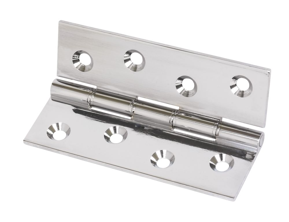 Double Phosphor Bronze Washered Hinge Polished Chrome 102 x 67mm Pack of 2
