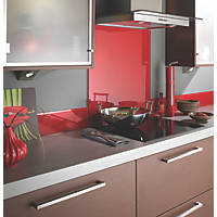 Lipstick Red Self-Adhesive Glass Upstand 1000 x 140 x 6mm