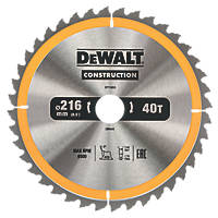 DeWalt General Purpose TCT Circular Saw Blade 216 x 30mm 40T