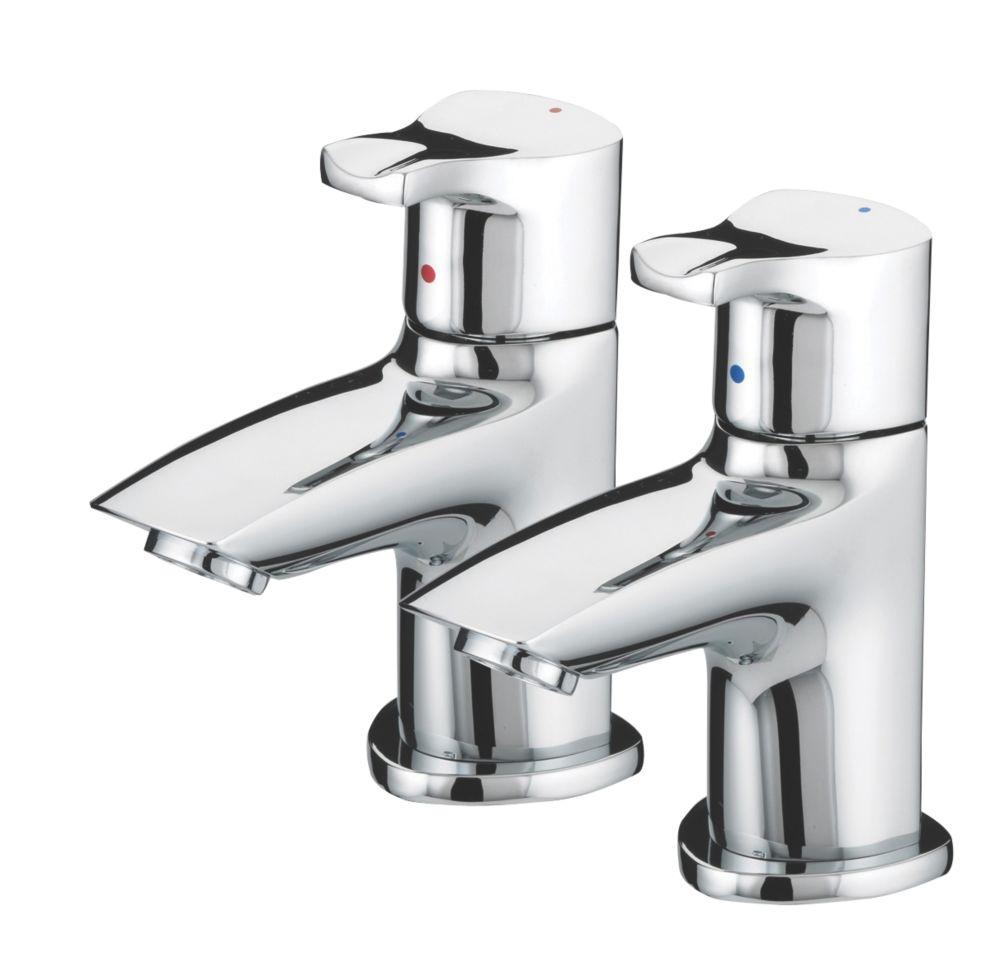 Bristan Capri Bathroom Basin Pillar Taps Pair
