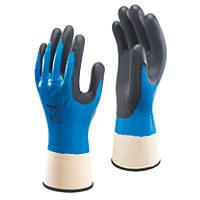 Showa  377 Nitrile Foam Grip Gloves Blue X Large