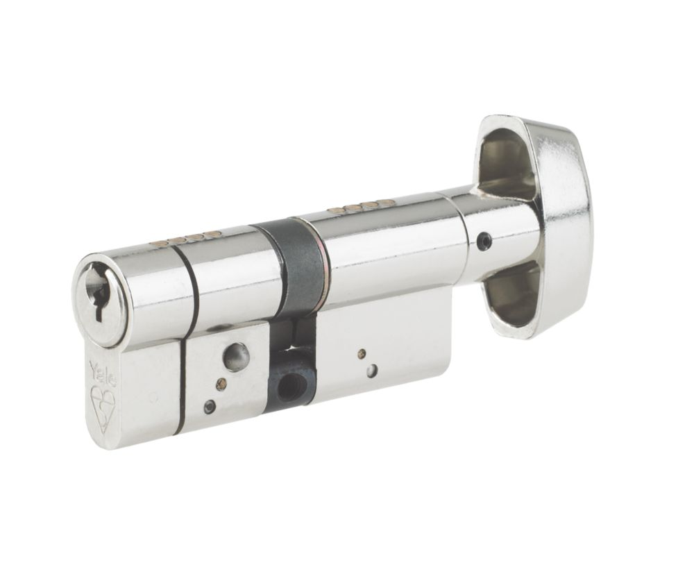 Yale AS Series Euro Thumbturn Cylinder Lock 40-40 (80mm) Brushed Nickel