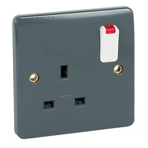 MK Double Pole Switch Socket 13A 2G with Neon