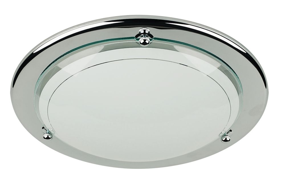 Chrome Circular Ceiling Light 60W