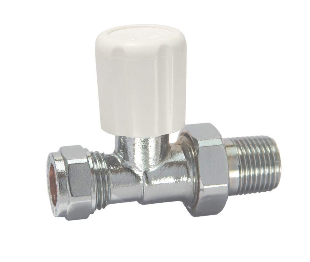 Straight Radiator Valve 10mm x ½""
