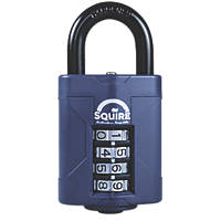 Squire Steel All-Weather Combination Padlock Blue 48mm