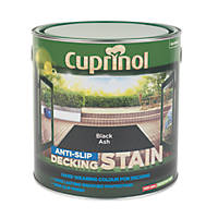 Cuprinol Anti-Slip Decking Stain Black Ash 2.5Ltr
