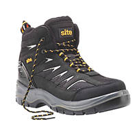 Site Quarry Safety Trainer Hiker Boots Black Size 7