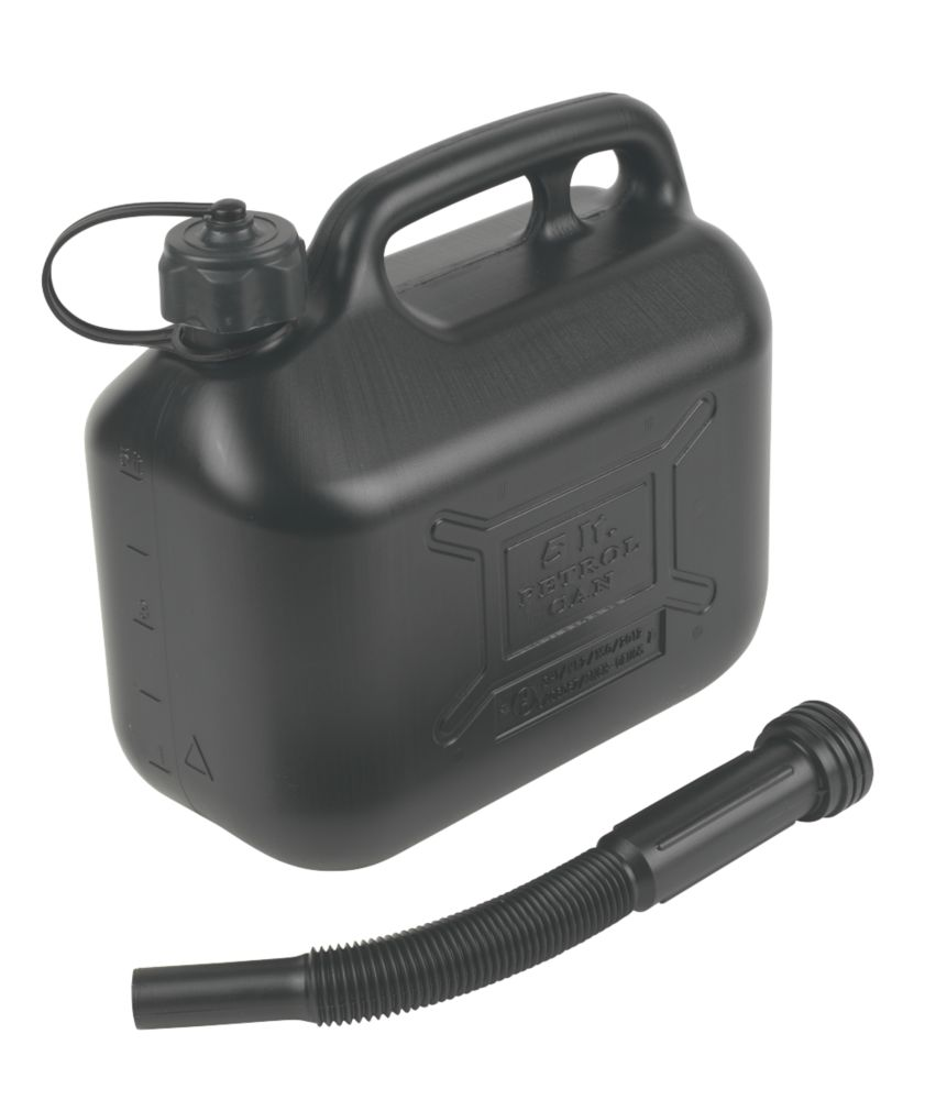 Hilka Pro-Craft Plastic Petrol Can Black 5Ltr