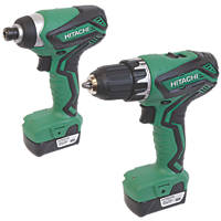 Hitachi KC10DFL2 10.8V 1.5Ah Li-Ion Twin Pack Drill Driver & Impact Driver