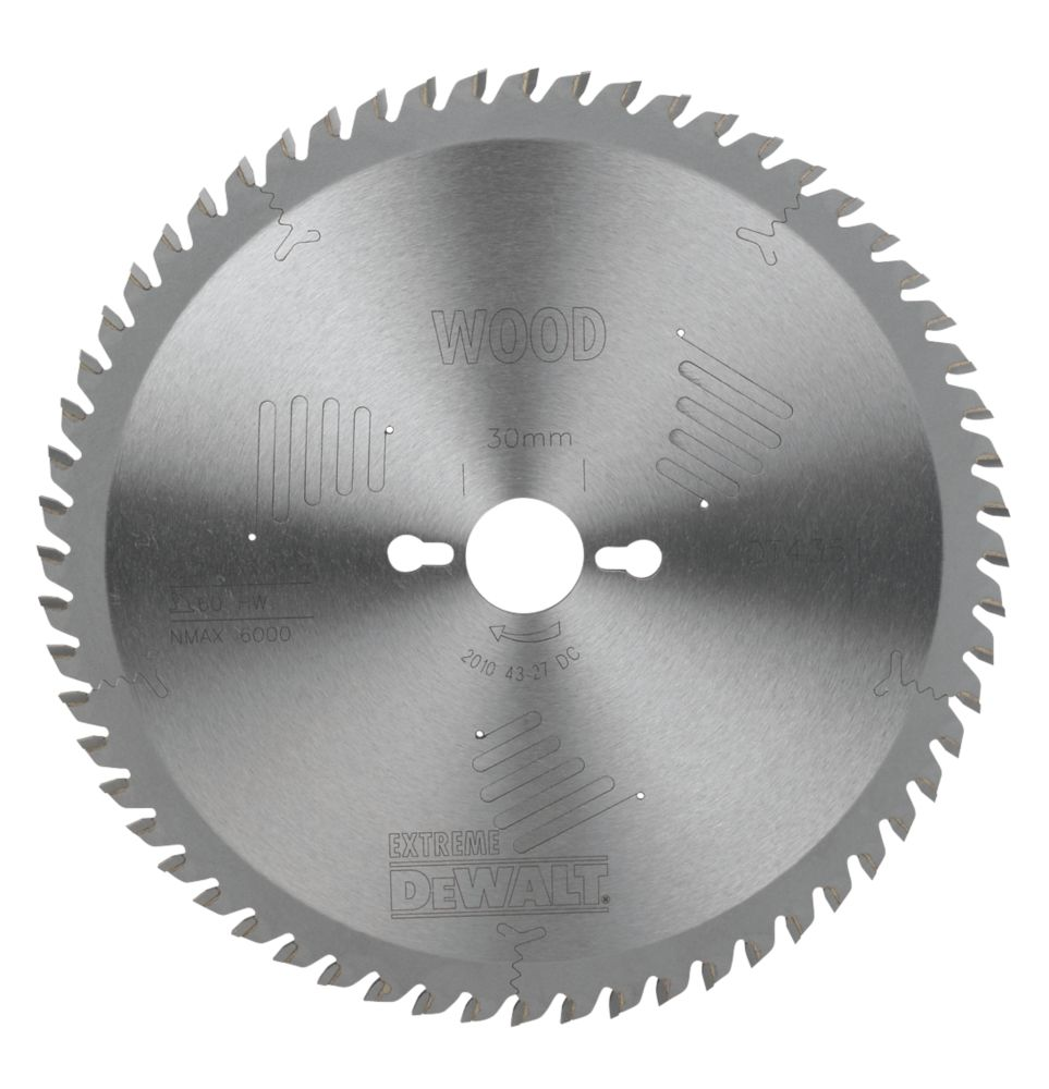 DeWalt DT4351-QZ Extreme Circular Saw Blade Stationary 250 x 30mm 60T