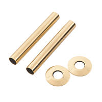 Arroll Pipe Shroud Kit Antique Brass 18 x 130mm 2 Pack