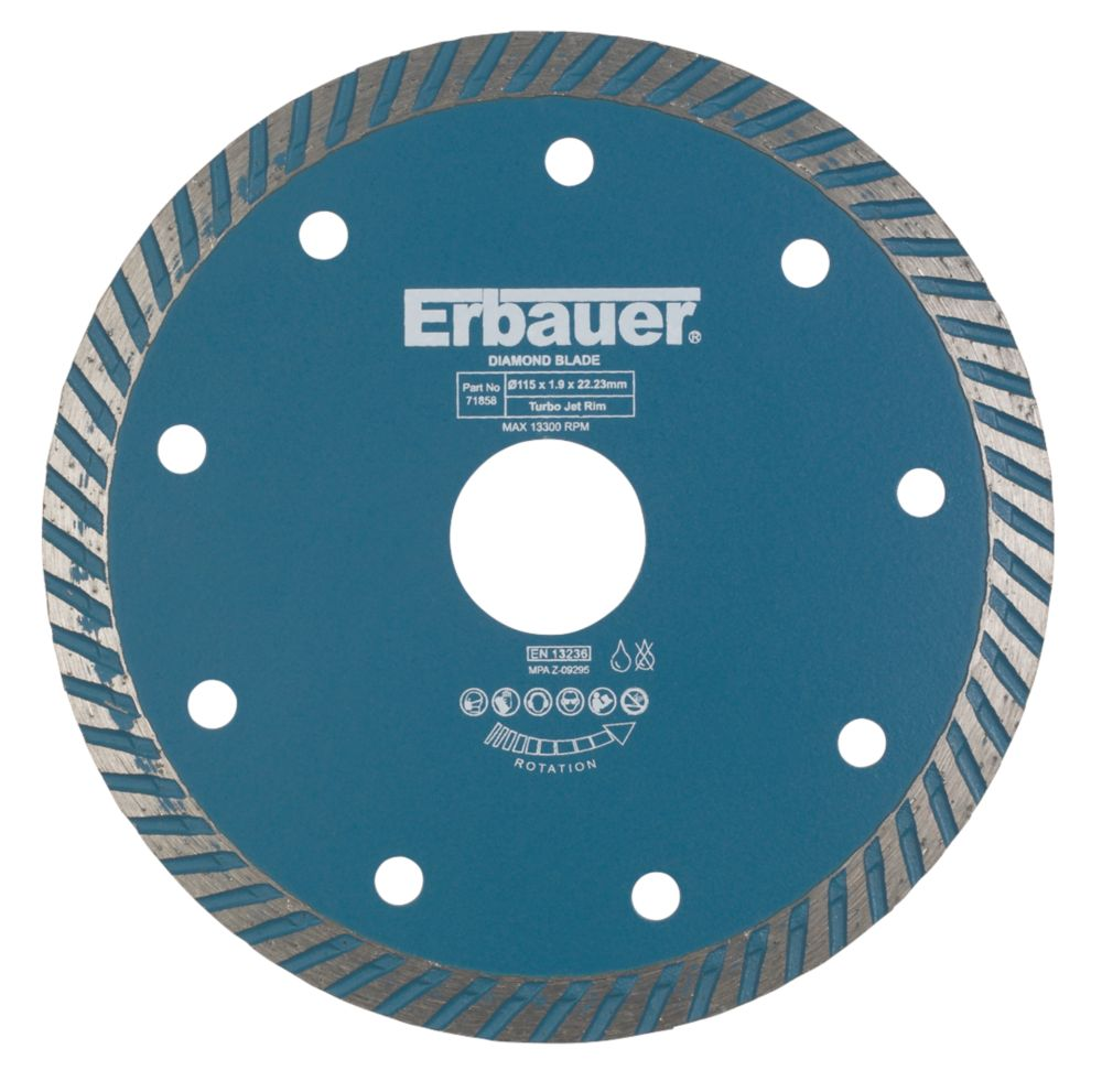 Erbauer Turbo Jet Blade 115 x 1.9 x 22.23mm