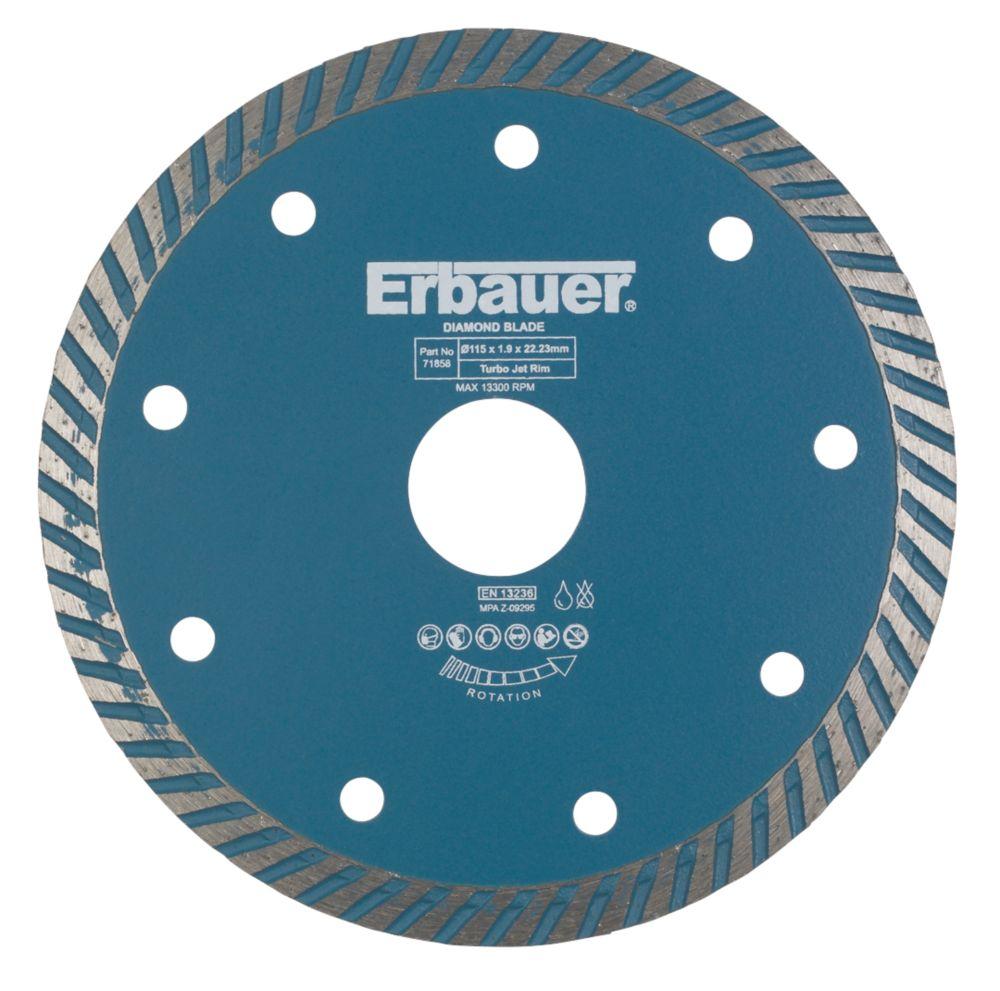 Erbauer Turbo Jet Blade 115 x 1.9 x 22.23mm