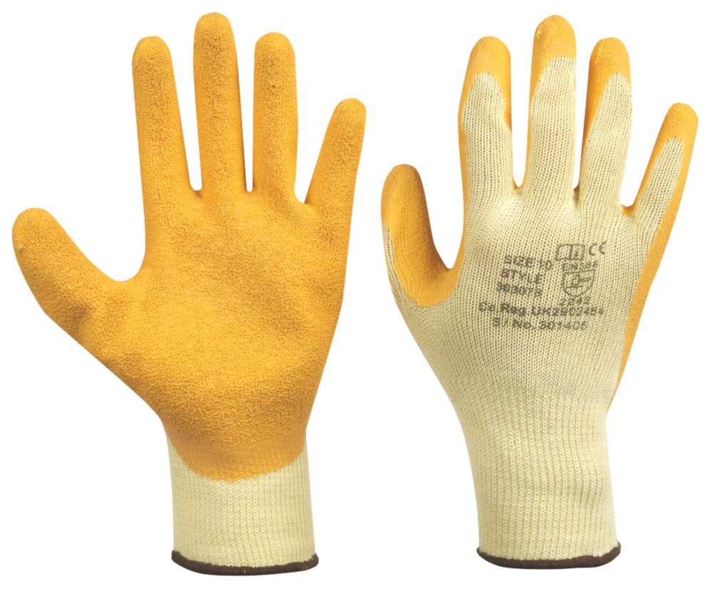 Keep Safe General Handling Superior Builders Gloves Yellow Large