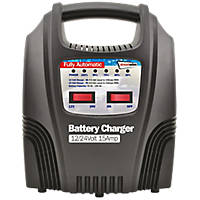 Streetwize SWBCLED15 15A LED Automatic Plastic-Cased Battery Charger 12/24V
