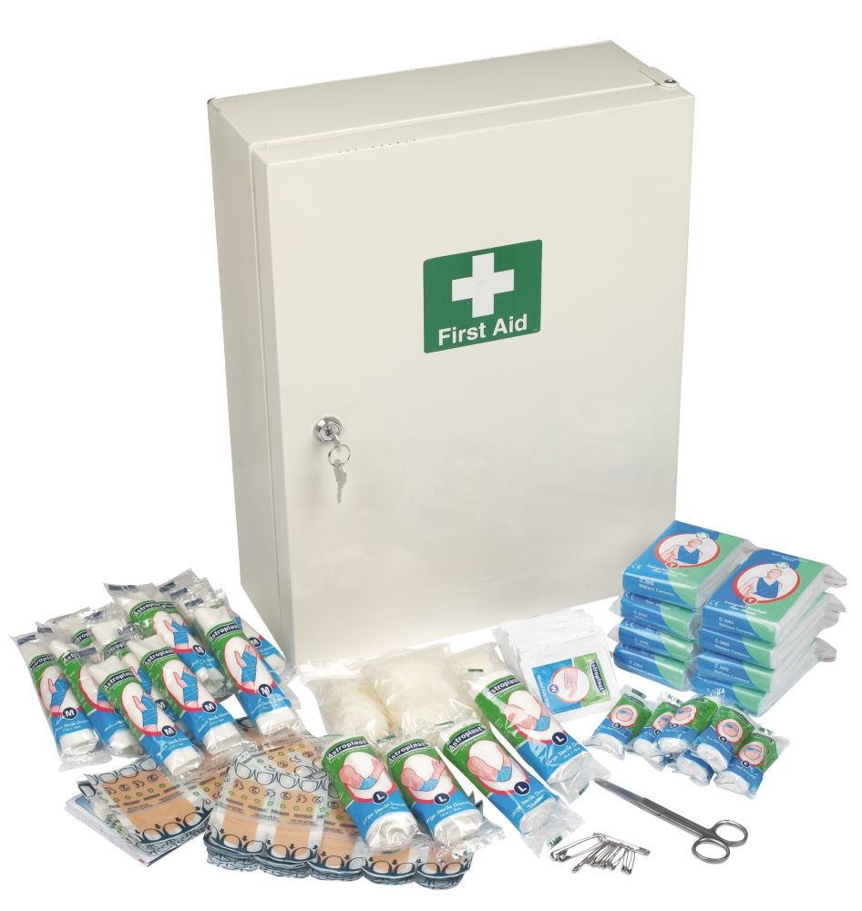 Complete 50 Person First Aid Cabinet