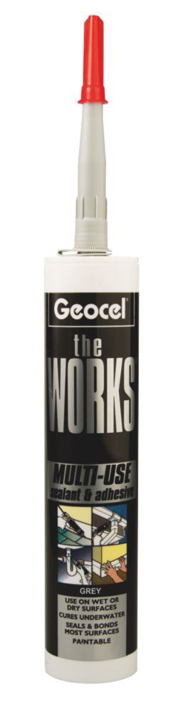The Works Sealant & Adhesive Grey 290ml