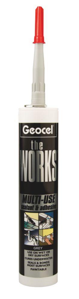 The Works Sealant & Adhesive Grey 290ml