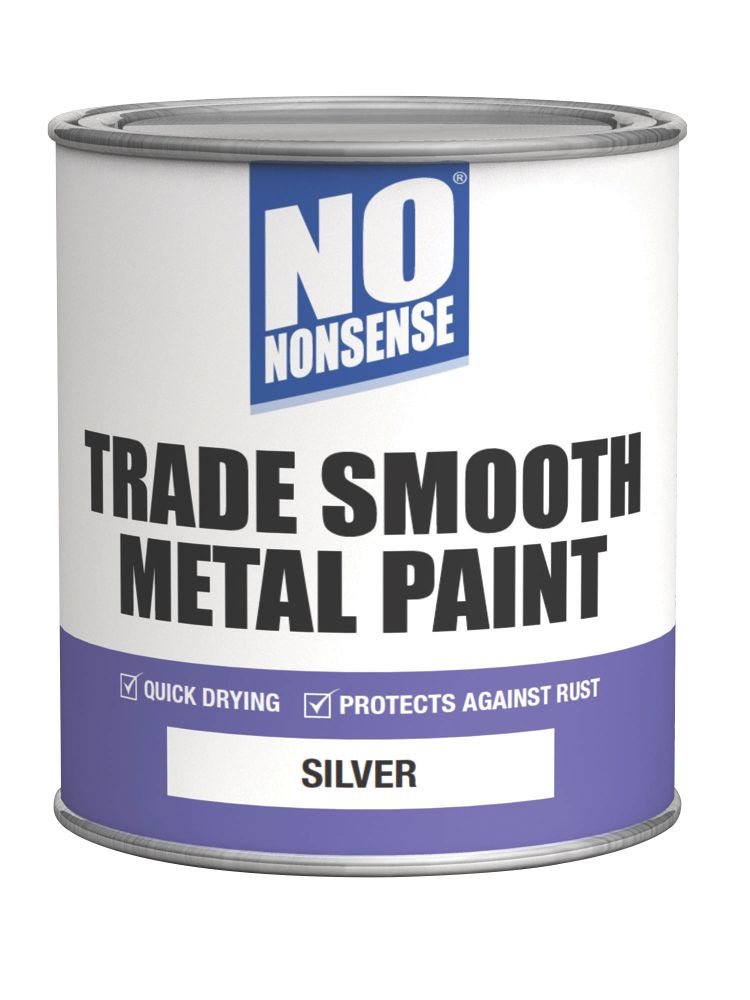 No Nonsense Quick-Dry Smooth Metal Paint Silver 750ml