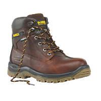 DeWalt Titanium Safety Boots Tan Size 8