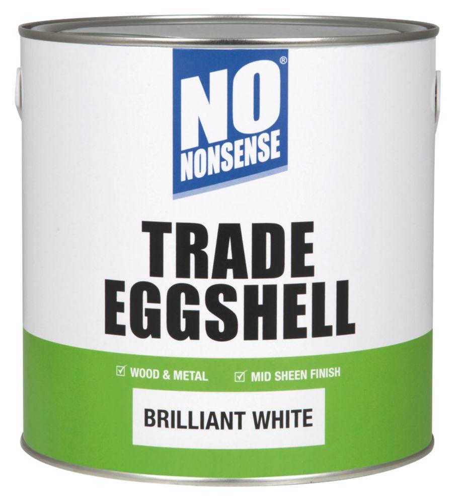 No Nonsense Trade Eggshell Trim Brilliant White 2.5Ltr