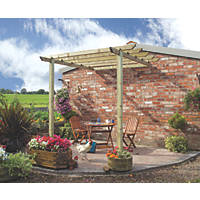Grange Traditional Patio Pergola  2.7 x 2.4 x 2.8m Pressure Treated Green Timber