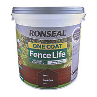 Ronseal One Coat Fence Life Dark Oak 9Ltr