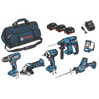Bosch 0615990H51 18V 3.0Ah Li-Ion  Cordless 6-Piece Power Tool Kit