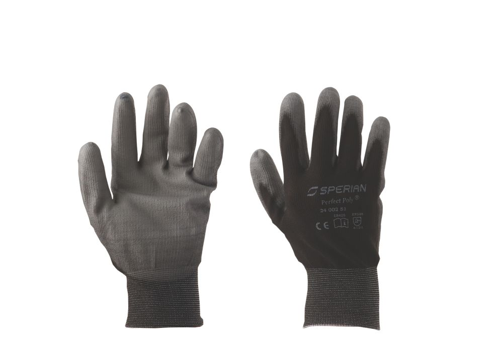 Perfect Fit Honeywell General Handling Poly Gloves Black Medium