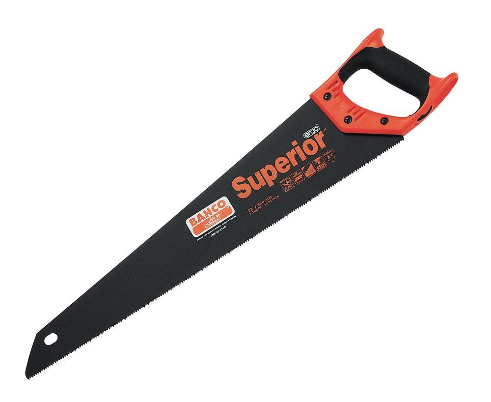 "Bahco Superior Hard-Point Handsaw 9Tpi 22"""