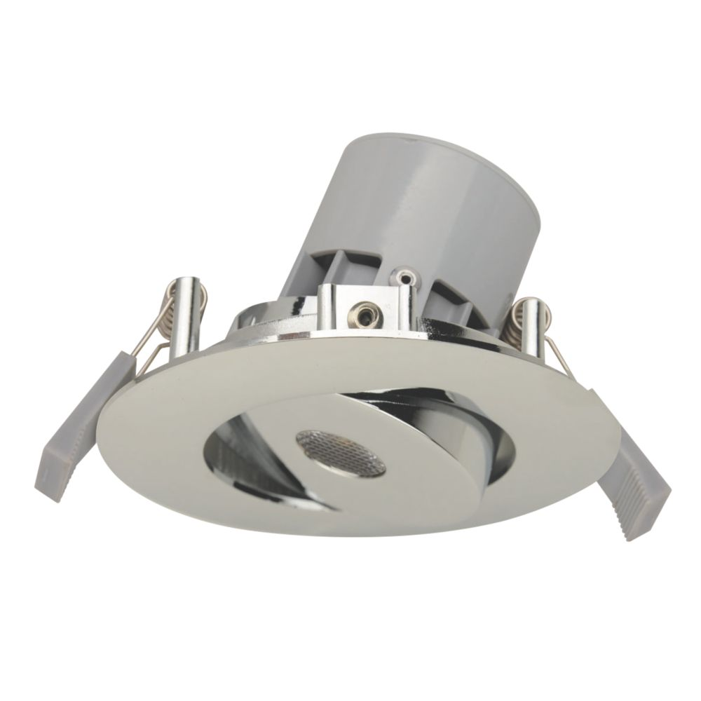 LAP Adjustable Round LED Downlight Polished Chrome 240V