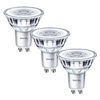 Philips GU10 LED Glass Reflector Lamps 355lm 900Cd 4.6W 3 Pack