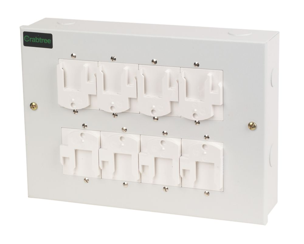 Crabtree 4-Pin 8-Way Luminaire Distribution Box