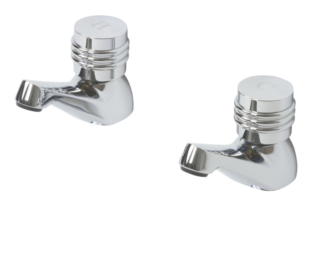 Swirl Magellan Bath Taps Chrome-Plated Pair