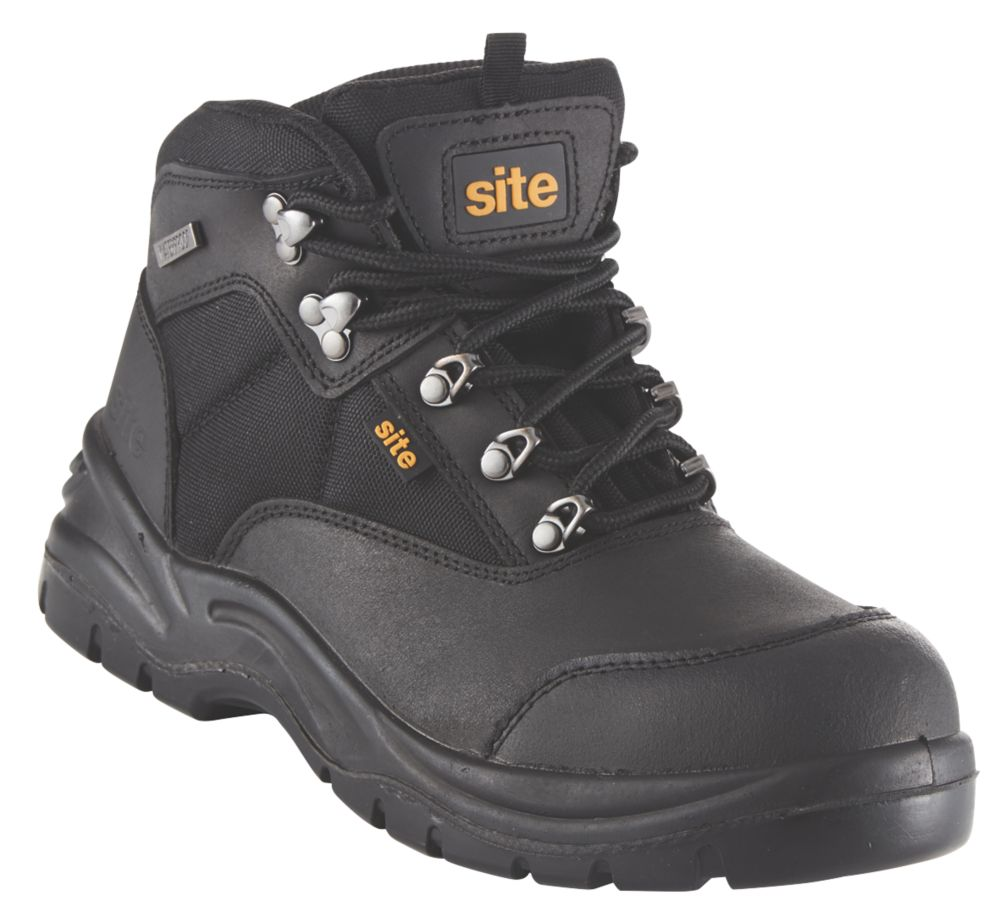 Site Onyx Safety Boots Black Size 11