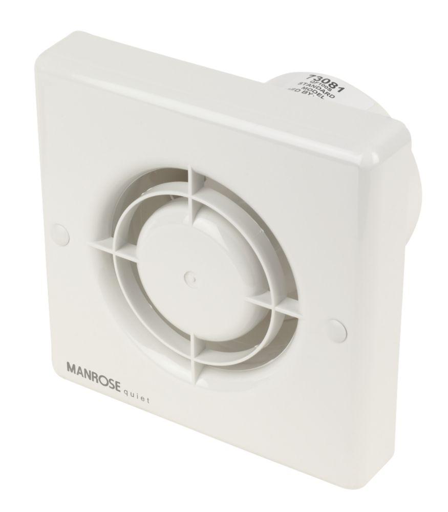 Manrose QF100S Quiet Fan Bathroom Axial Extractor Fan 5W