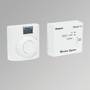 drayton digistat rf room thermostat wired thermostats. Black Bedroom Furniture Sets. Home Design Ideas