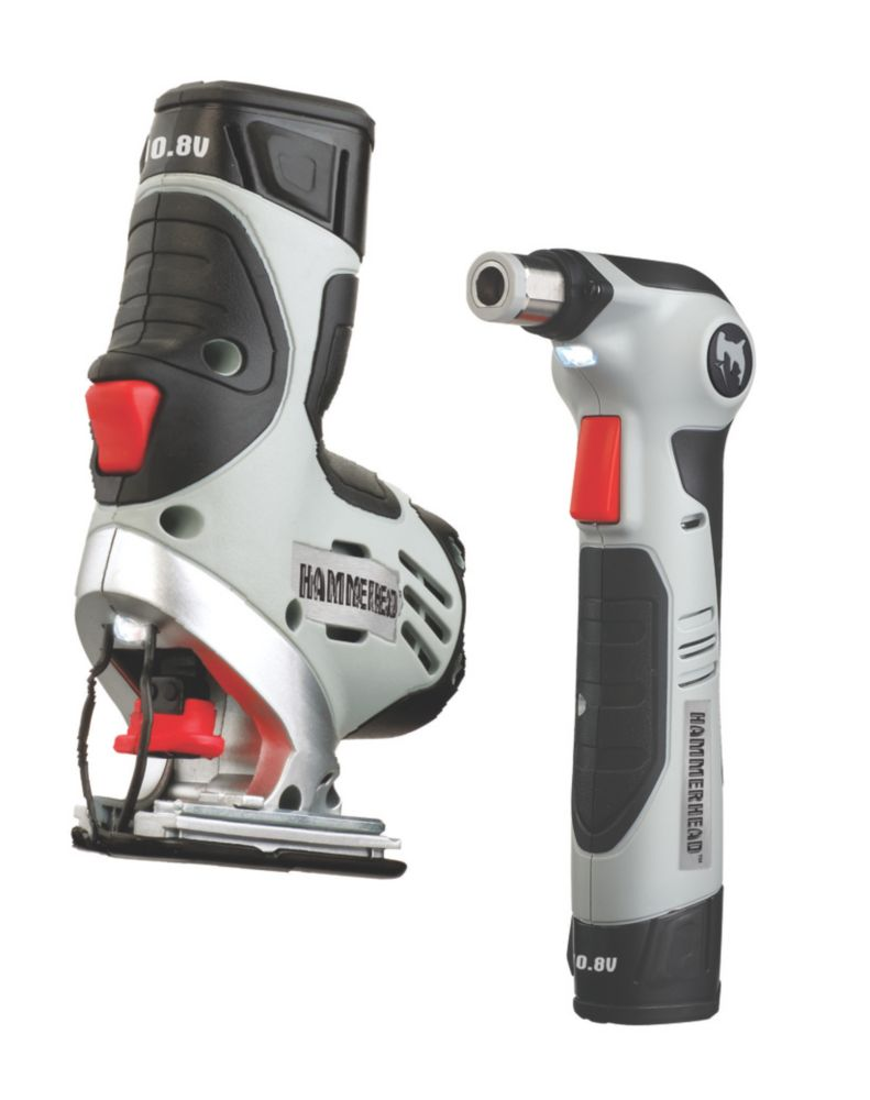 10.8V 1.2Ah Li-Ion Twin Pack Multi-Saw & Hammerhead Nailer
