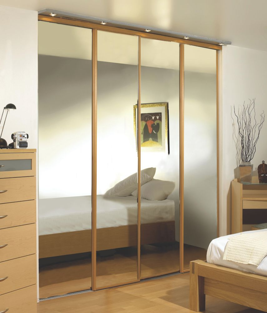Oak Framed Wardrobe Mirror Doors 2286 x 3040mm