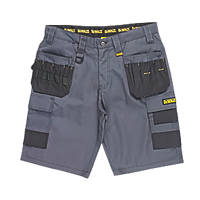 "DeWalt Ripstop Multi-Pocket Shorts Grey / Black 38"" W"