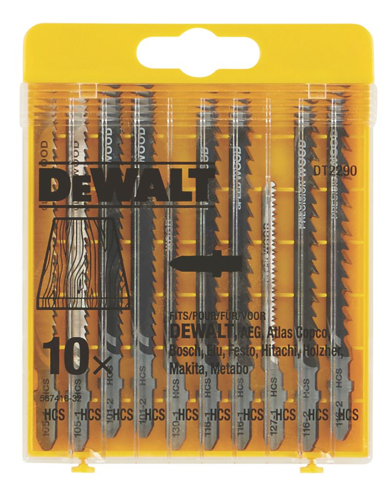 DeWalt Jigsaw Set 10Pcs
