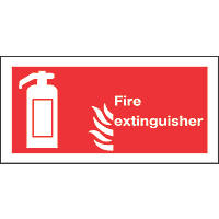 """Fire Extinguisher"" Signs 100 x 200mm 50 Pack"