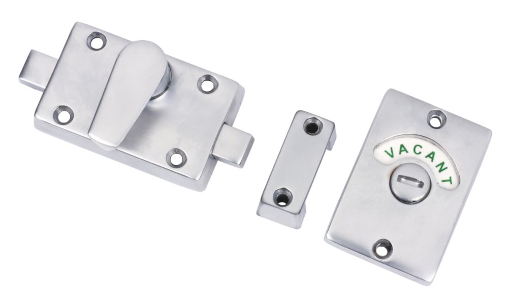 Bathroom Indicator Bolts Satin Chrome